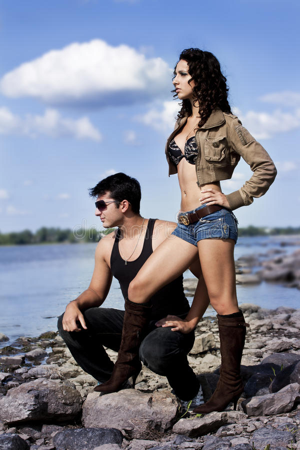 Jeunes couples sexy photos stock