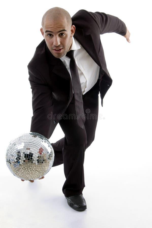 jeunes croulants intelligents exécutifs de disco de bille photos stock
