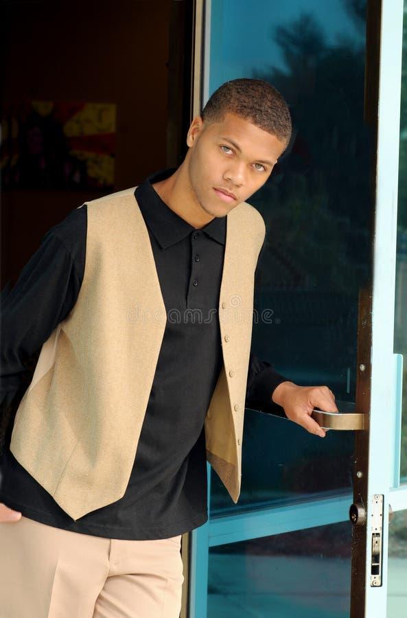 Download Jeunes D'homme D'afro-américain Photo stock - Image du confiant, visage: 8671226
