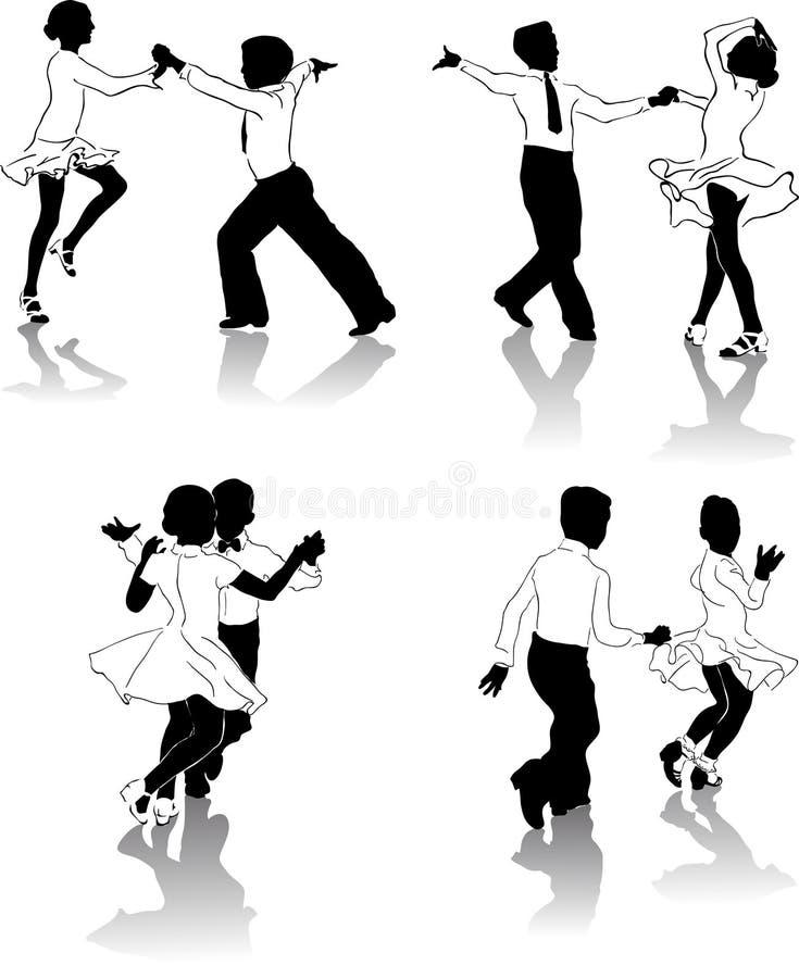 Jeunes danseurs #2 illustration de vecteur