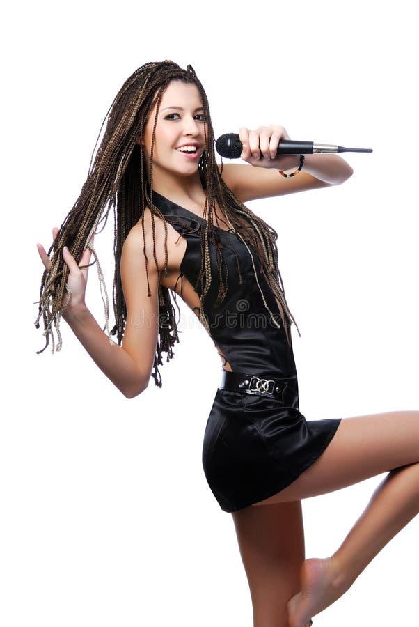 jeunes de femme de chant photo stock