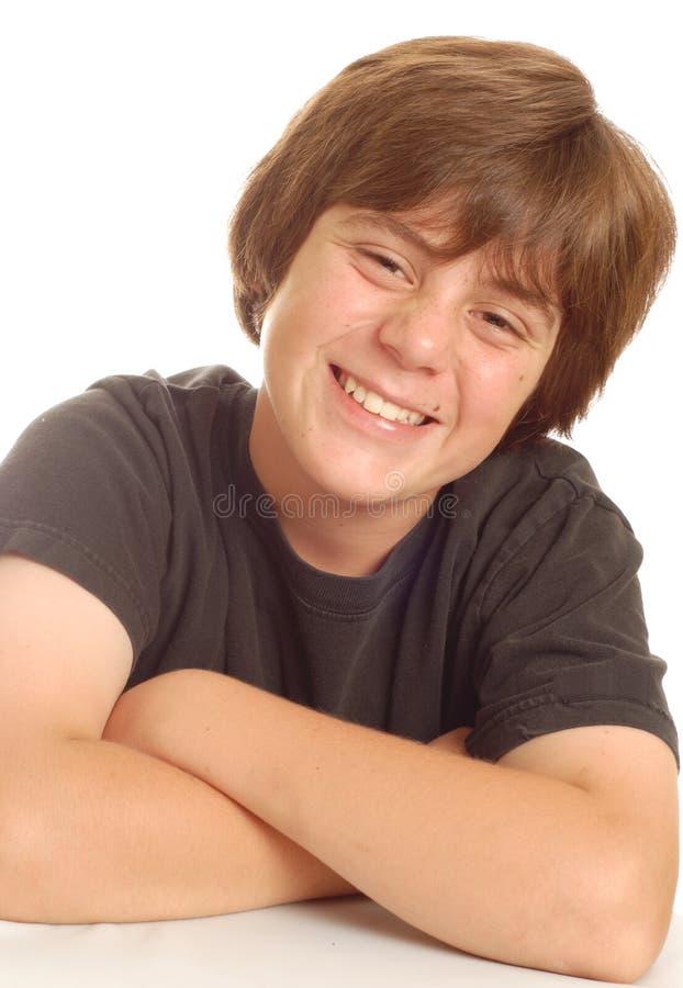 jeunes de l'adolescence heureux de garçon images libres de droits