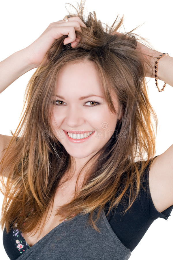 jeunes de sourire de femme de verticale images stock