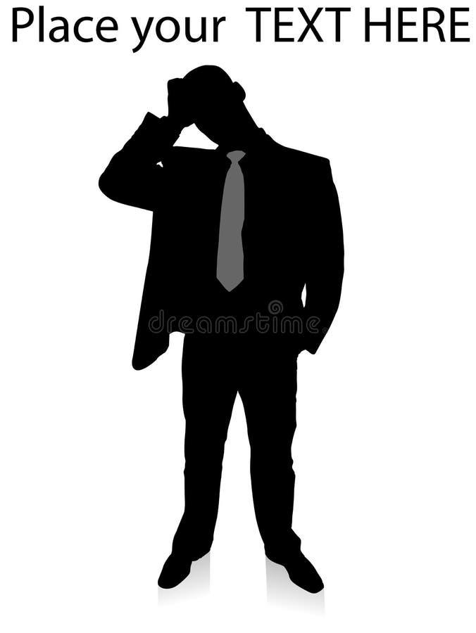 jeunes debout confondus par homme d'affaires illustration libre de droits
