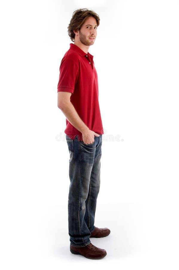 jeunes debout latéraux mâles de vue photos stock