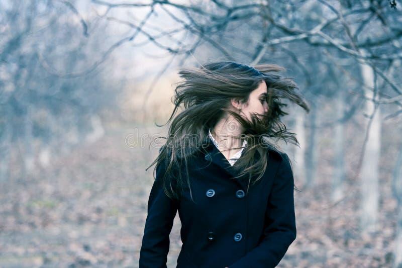 jeunes en mouvement de cheveu de beauté images stock