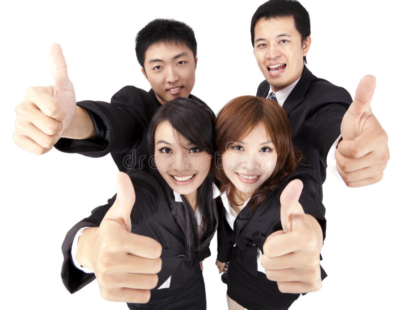 Jeunes et équipe d'affaires de réussite photo stock