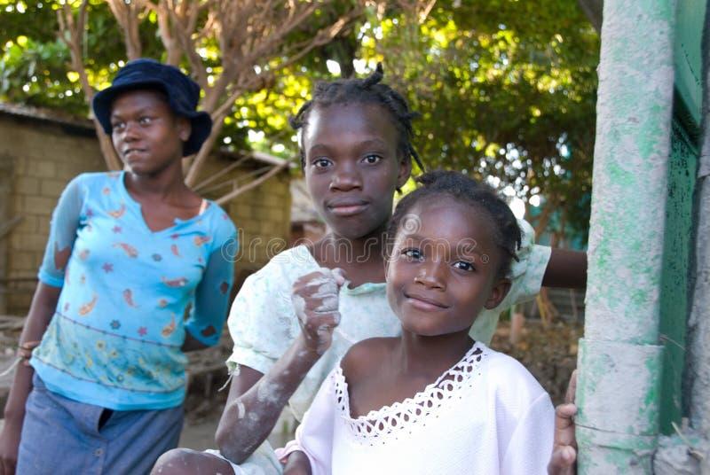 Jeunes filles haïtiennes photographie stock libre de droits