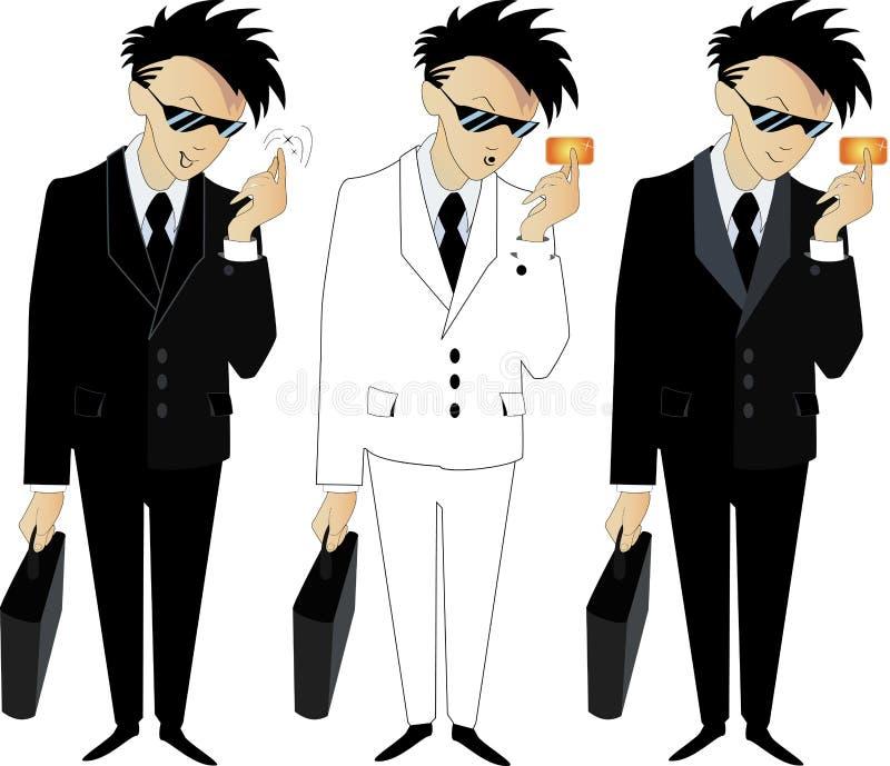 jeunes frais d'homme de costume illustration libre de droits