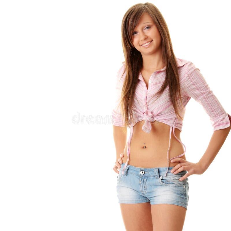 jeunes heureux amicaux de dame images libres de droits