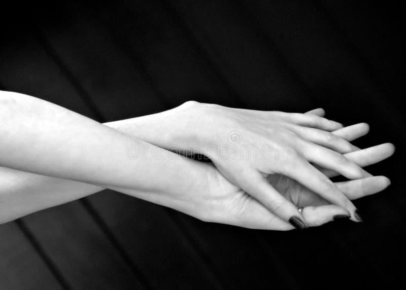Jeunes mains images stock
