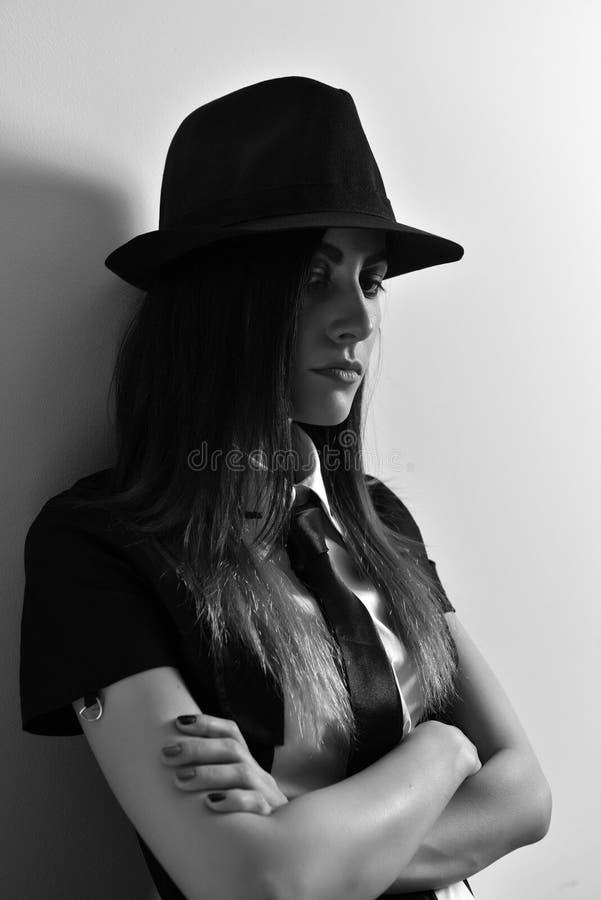 jeunes modèles de yeager de femme de nicole de chapeau photo stock
