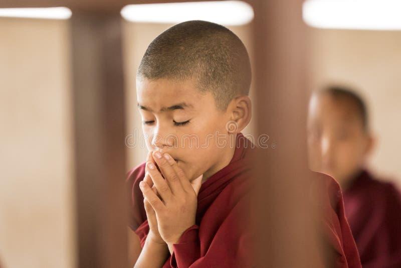 Jeunes moines à l'école image stock