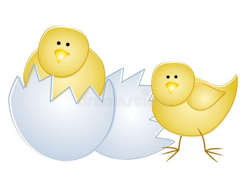 Jeunes nanas de Pâques avec l'oeuf 2 illustration libre de droits