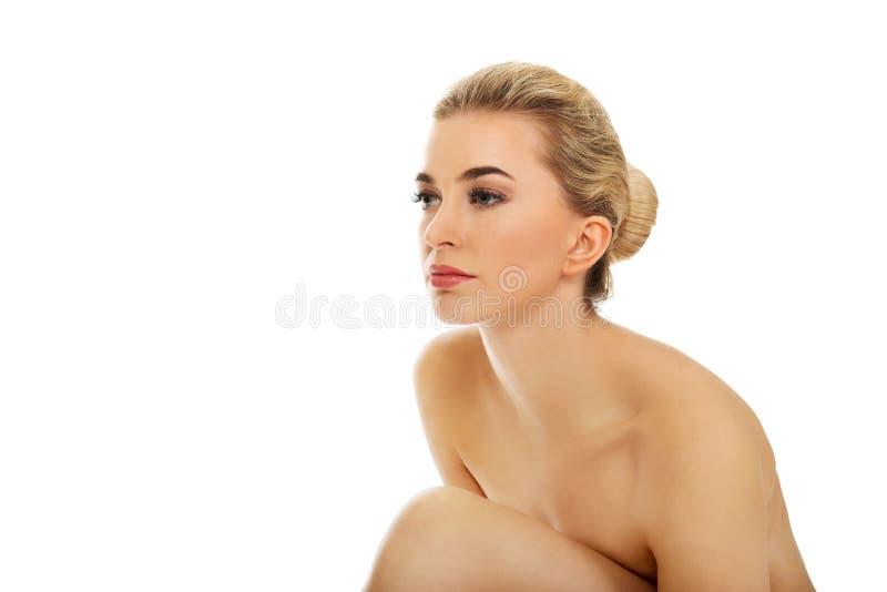 jeunes nus de femme images stock