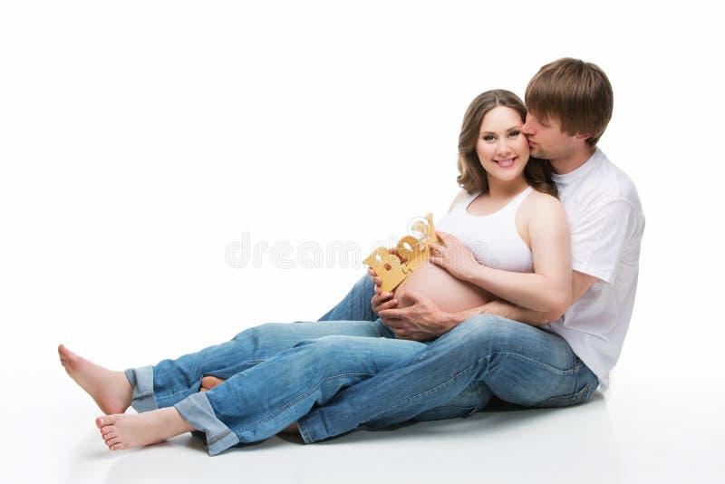 Jeunes parents image stock
