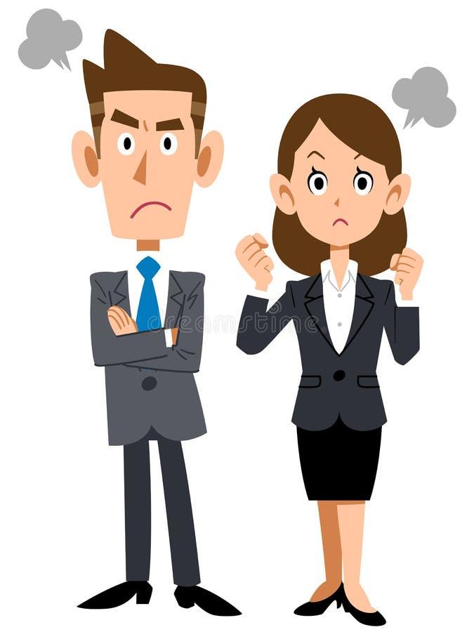 Jeunes personnes fâchées d'affaires illustration de vecteur
