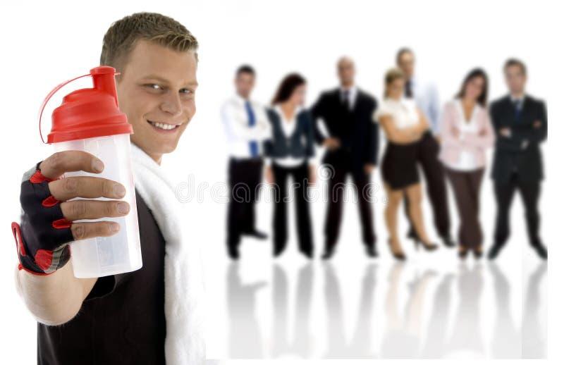 jeunes professionnels de gens excersier image stock