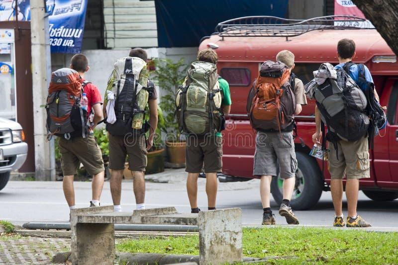 Jeunes randonneurs en Thaïlande du nord photographie stock libre de droits