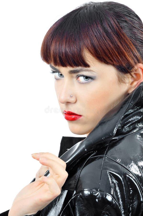 jeunes sexy de femme de cloack photo libre de droits