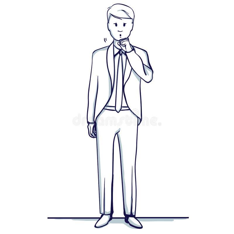 Jeunes supports d'homme d'affaires illustration stock