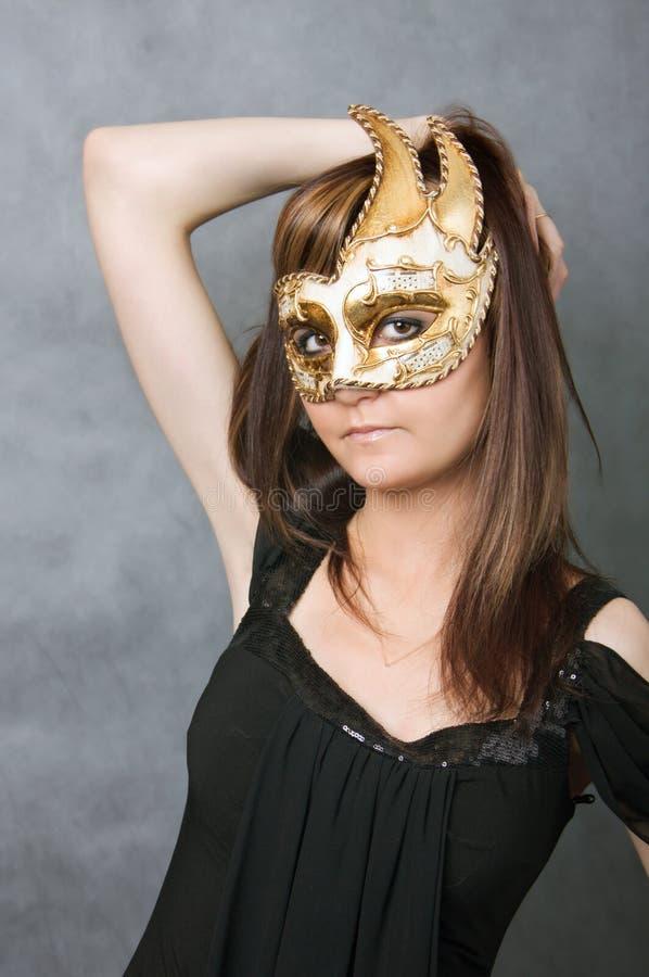 jeunes vénitiens de femme de masque image libre de droits