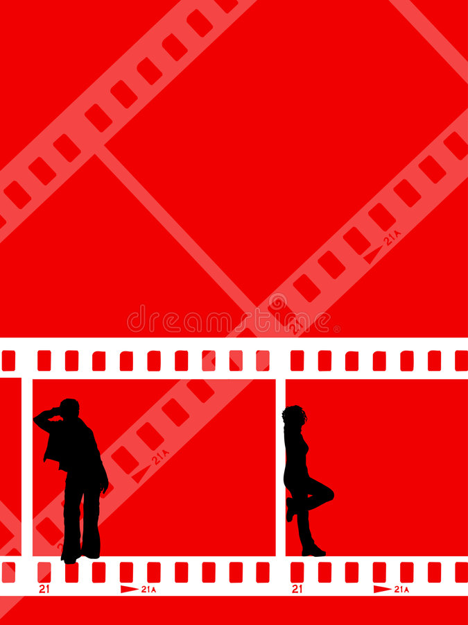 Jeunesse de bande de film illustration stock