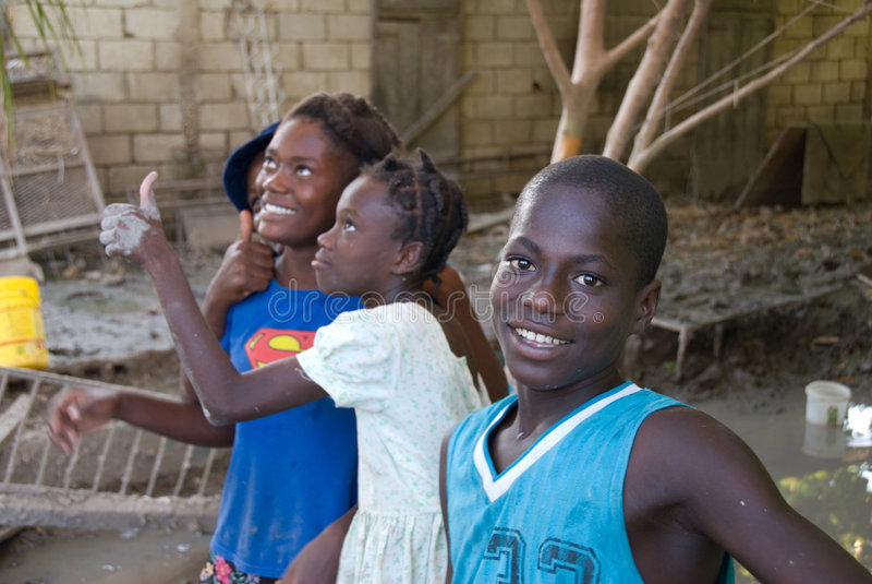 Jeunesse haïtienne photos libres de droits