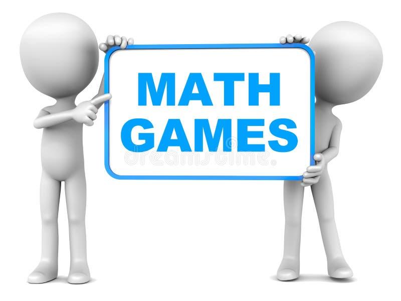 Jeux de maths illustration stock