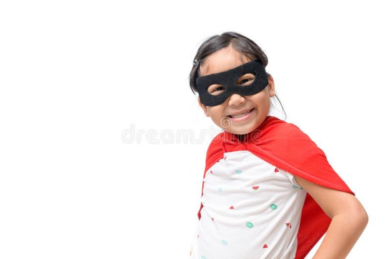 Jeux de petit enfant super héros et sourire images libres de droits