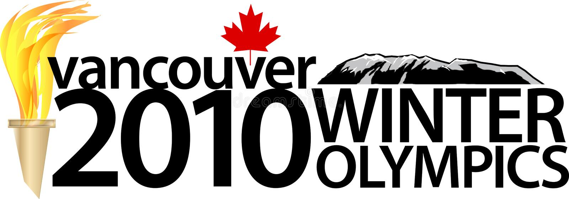 Jeux Olympiques d'hiver de Vancouver 2010 illustration de vecteur
