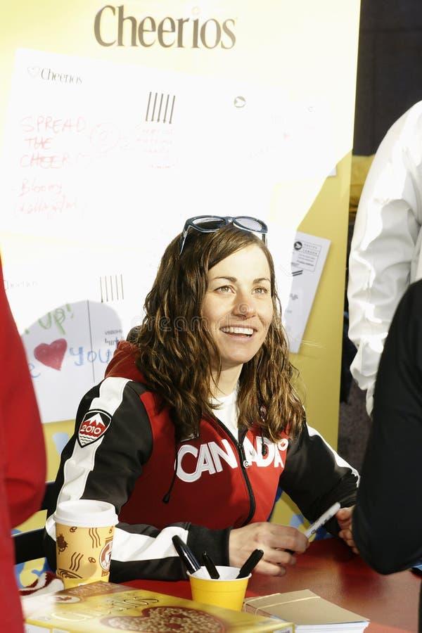 Jeux Olympiques de médaille d'or de Maelle Ricker images stock