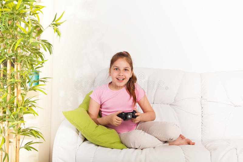 Jeux vidéo pour des filles photos stock