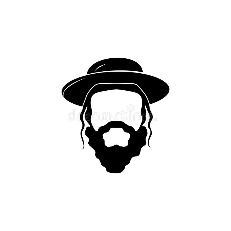 The head of a. Jew. The head of a royalty free illustration