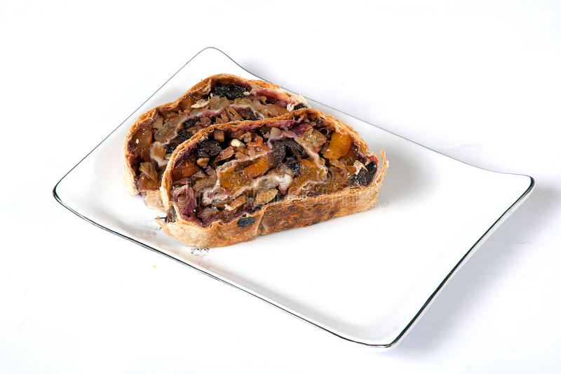 Download Jew's Strudel On White Dish Stock Images - Image: 13215494