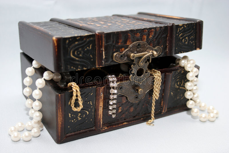 Jewel in box royalty free stock images
