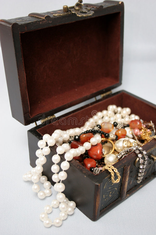 Jewel in box stock images