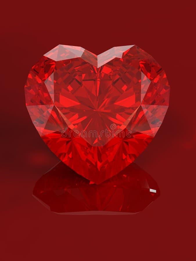 Jewel heart vector illustration