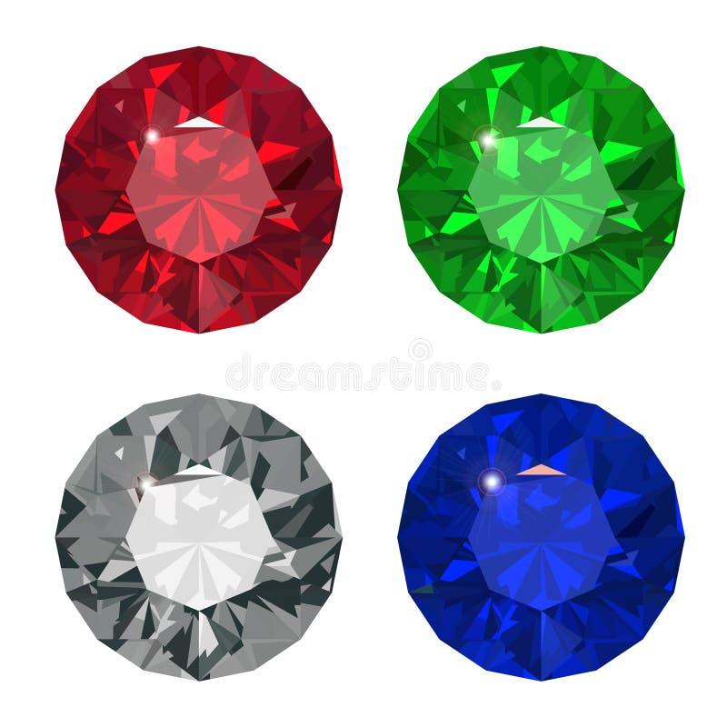 Download Jewel set. stock vector. Illustration of emerald, refraction - 33956759