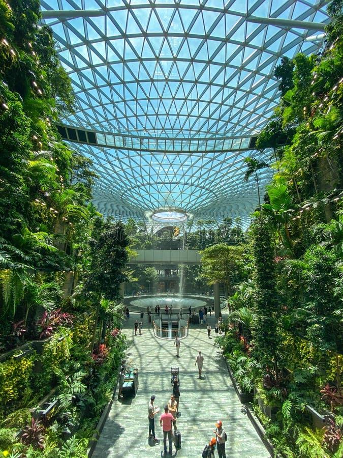Jewel of Singapore Changi Airport royalty free stock photo