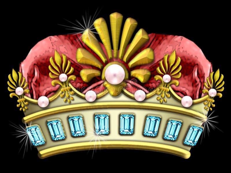jeweled блестящее кроны иллюстрация вектора