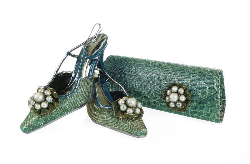 Jeweled shoes and purse