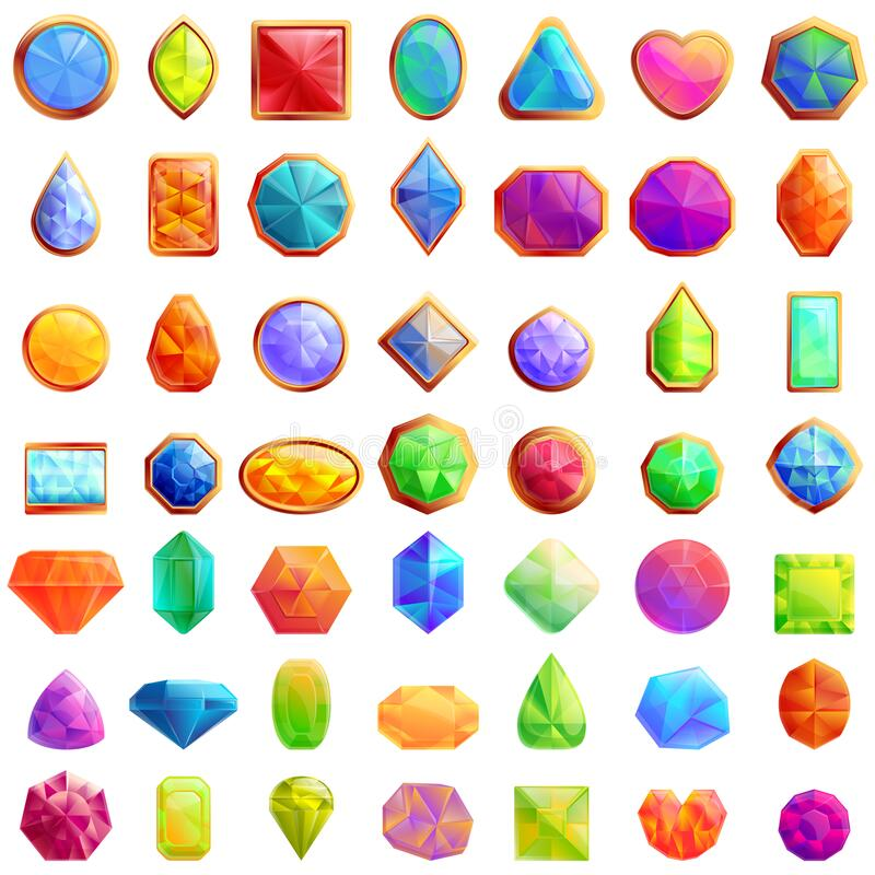 Free Jeweler Icons Set, Cartoon Style Royalty Free Stock Photos - 178024748