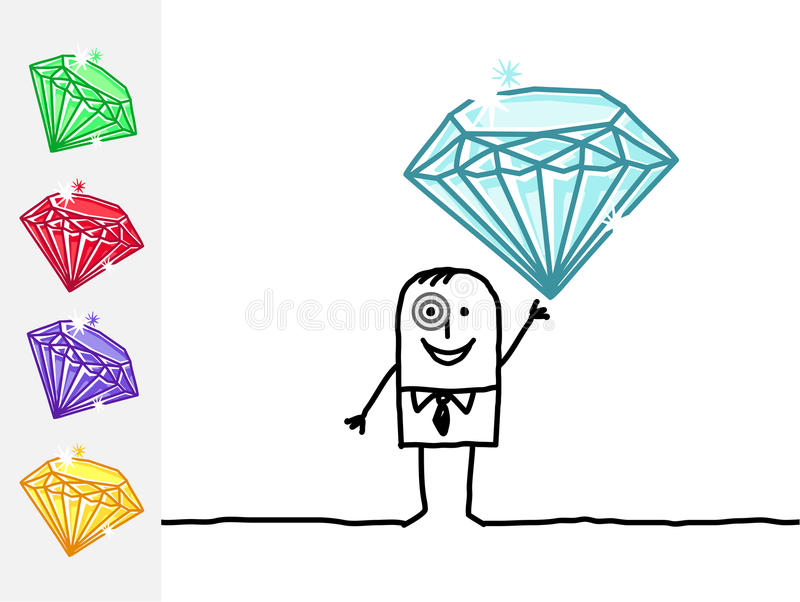 Download Jeweler And Precious Stones Stock Vector - Image: 14860206