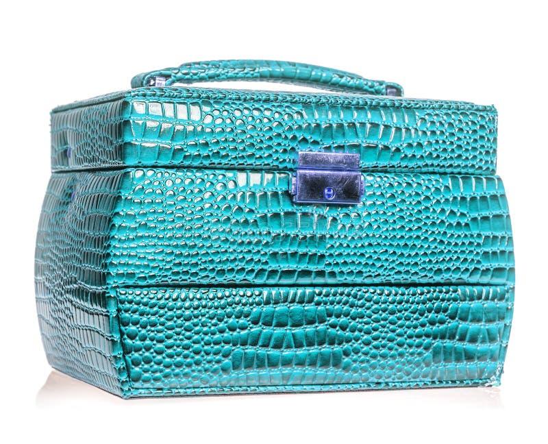 jewelery голубой коробки стоковые изображения rf