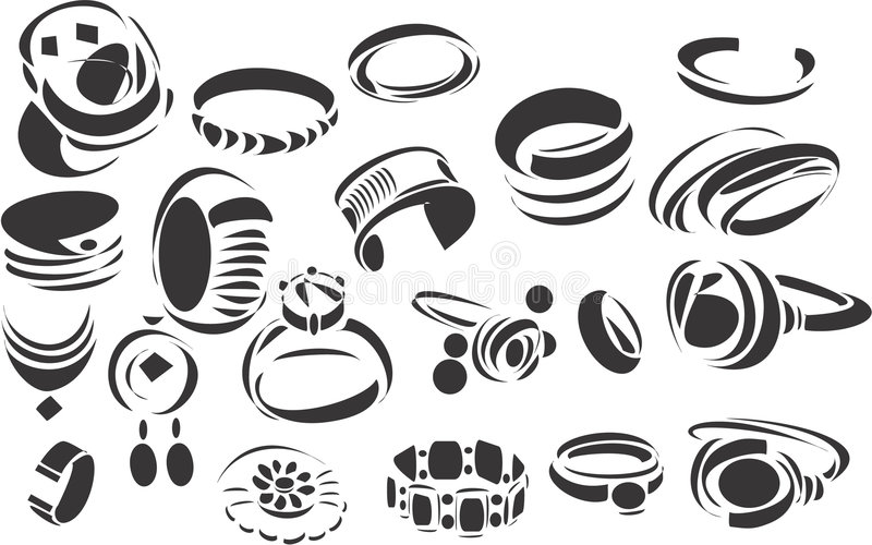 jewelery vektor illustrationer