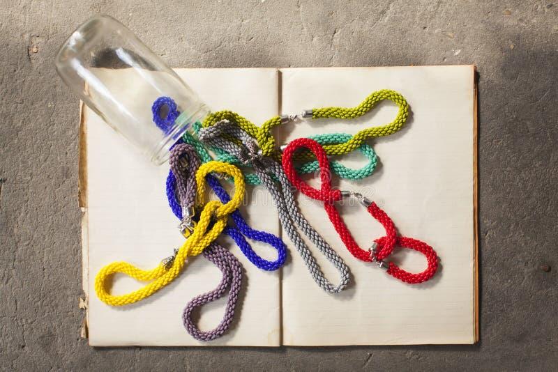 Jewelery colorido fotos de archivo