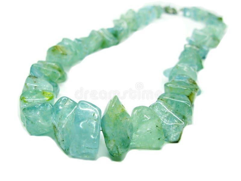Jewelery del collar de la gema del Aquamarine fotografía de archivo libre de regalías
