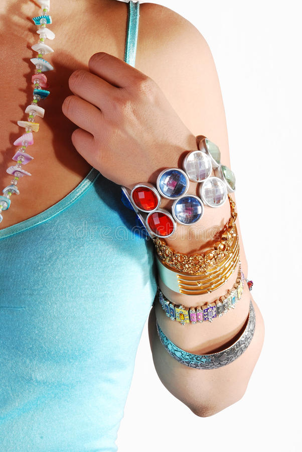Jewelery a disposizione fotografie stock libere da diritti
