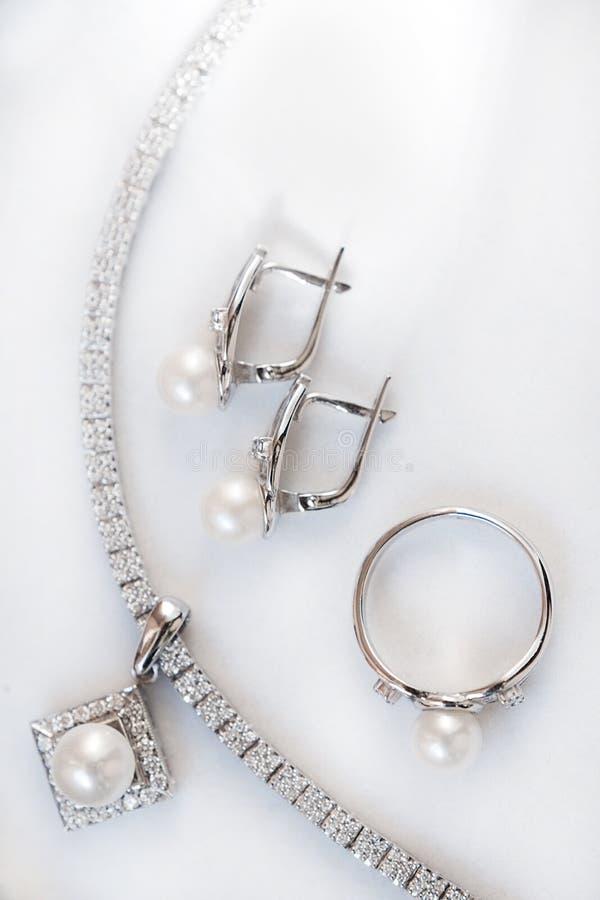 Jewelery set stock images